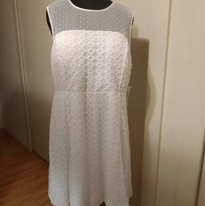ModCloth White Lace Dress